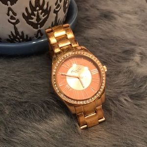 Kenneth Coal Rose Gold Watch